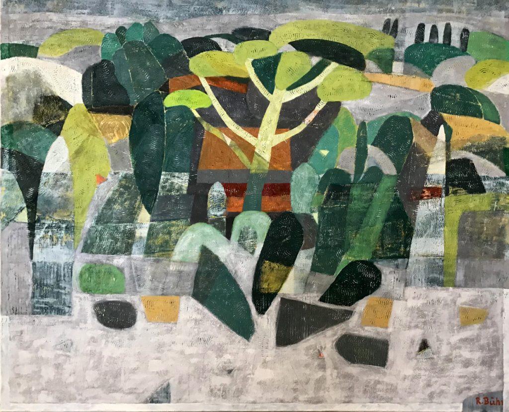 """Renate Bühr, """"Provence"""", Öl auf Leinwand, 100 x 120 cm, 2100 EUR"""