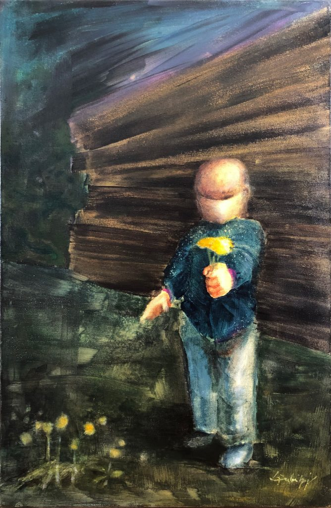 "Jeannette Dubielzig, ""Hoffnung"", Acryl auf Leinwand, 61 x 40 cm, 1200 EUR"