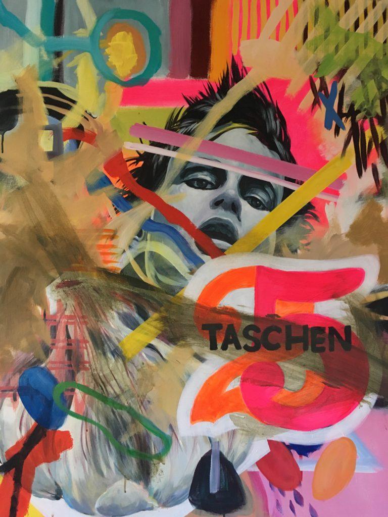 """Isolde Egger, """"Knoblauch gegen Vampire"""", 2020, Acryl auf Leinwand, 90 x 110 cm, 1500 EUR"""