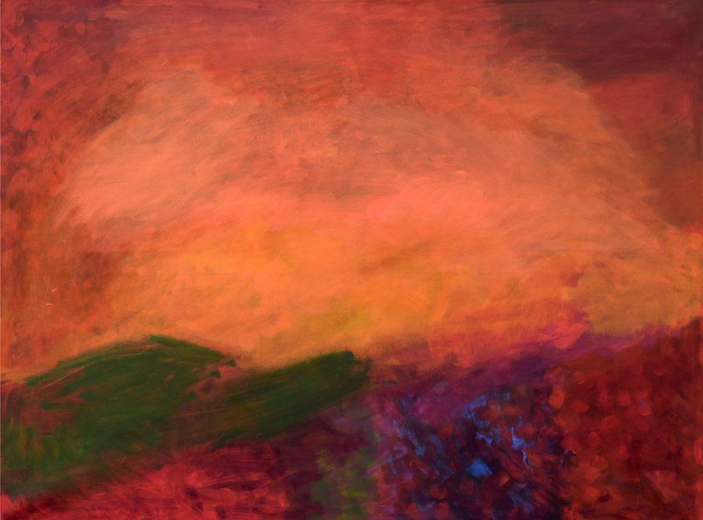 """Eunice Huf, """"Green Mountains"""", 90 x 100 cm, 1200 EUR"""
