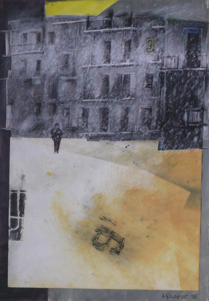 "Kristin Kaeser, ""Lost City"", Collage, 35 x 50 cm, 460 EUR"