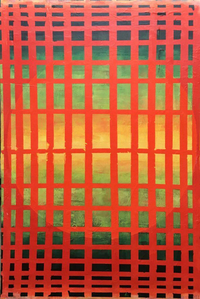 "Hans Nadler, ""Ohne Titel 045"", 2019, Acryl auf Leinwand, 120 x 80 cm, 1200 EUR auf Spannrahmen"