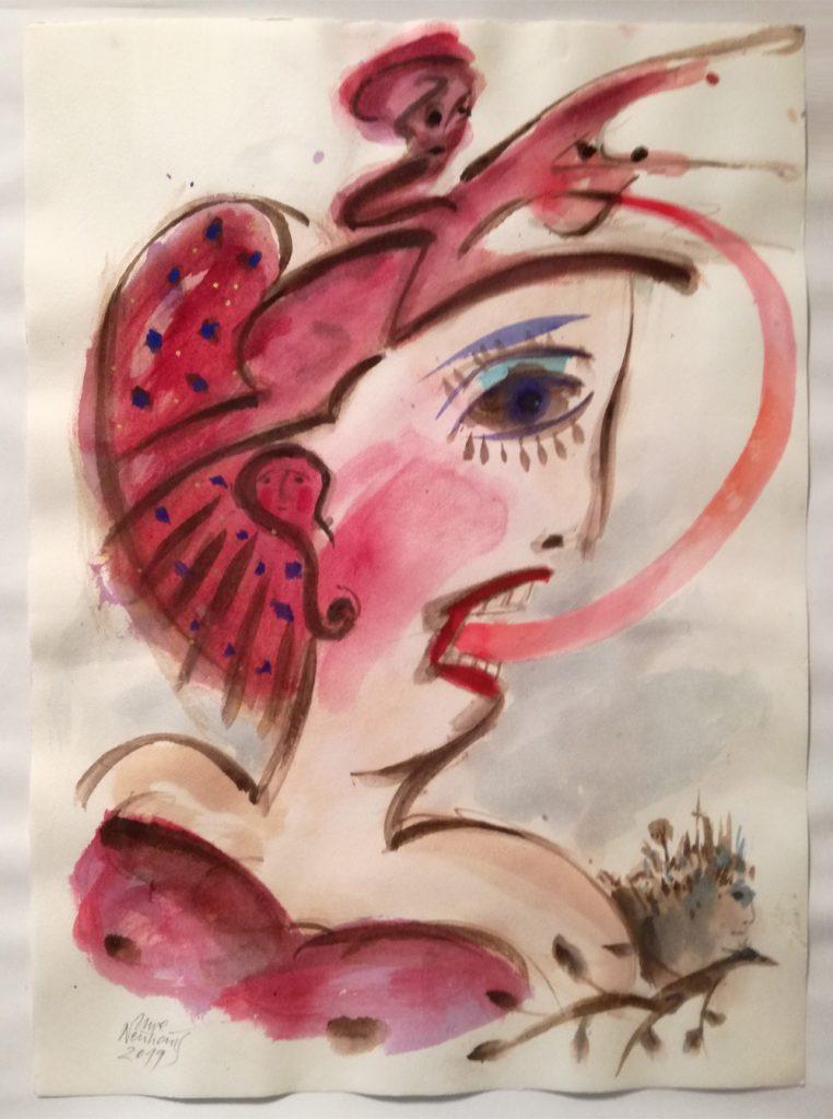 "Uwe Neuhaus, ""FURIOSO"", Aquarell auf Büttenpapier, 53 x 37 cm, 800 EUR"
