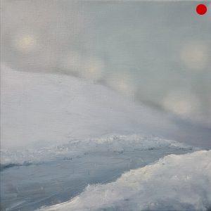 "Iris Nölle-Wehn, ""ohne Titel"", 2020, Öl auf Leinwand, 30 x 30 cm, verkauft"