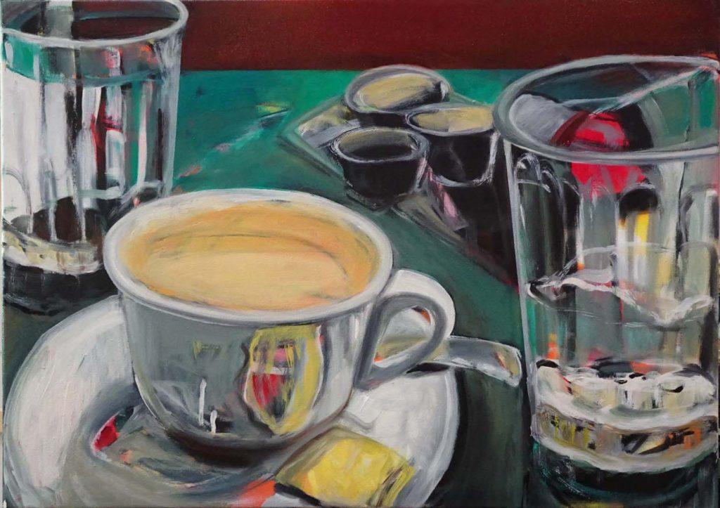 "Stoller Carin E. Stoller, ""ohne Titel 2019 (Rietberg)"", Öl auf Nessel, 50 x 70 cm, 1650EUR"