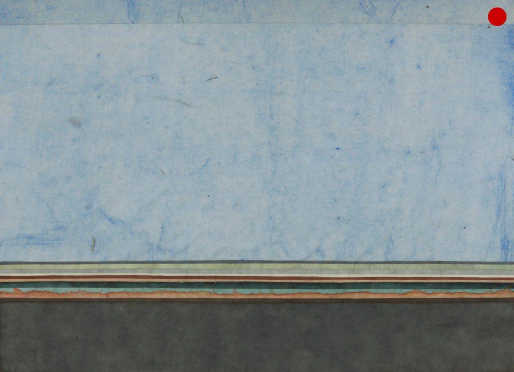 """Joram von Below, """"Scape"""", 2020, Collage, 21 x 297 cm, verkauft"""