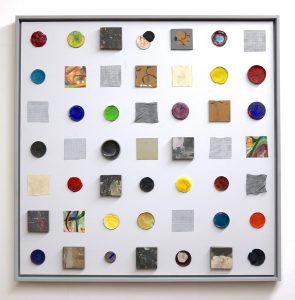 "Thomas Weidner, ""intersubjektiv"", 2020, Assemblage, 120 x 120 cm, 1400 EUR"