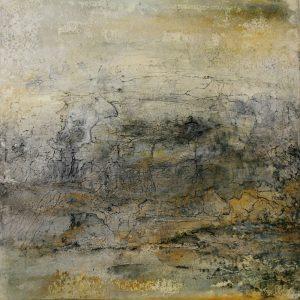 "Dagmar Reiche, ""o.T."", Marmormehl / Sumpfkalk / Eitempera auf Leinwand, 2020, 50 x 50 cm, 580 EUR"