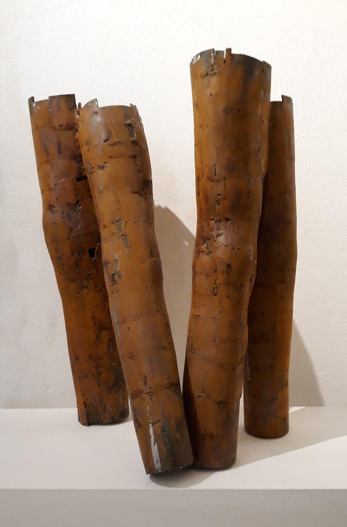"""""""Beine"""", Eisen rostig, 58 x 43 x 37 cm, 2019, M. Buchenberg"""
