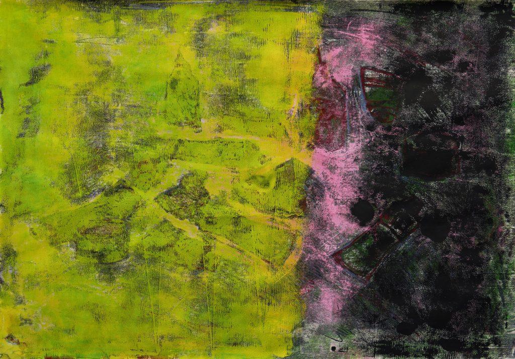 "Marie-Luise Dietl, ""Farbfeld 5"", Monotypie, 70x100 cm, 950 €"