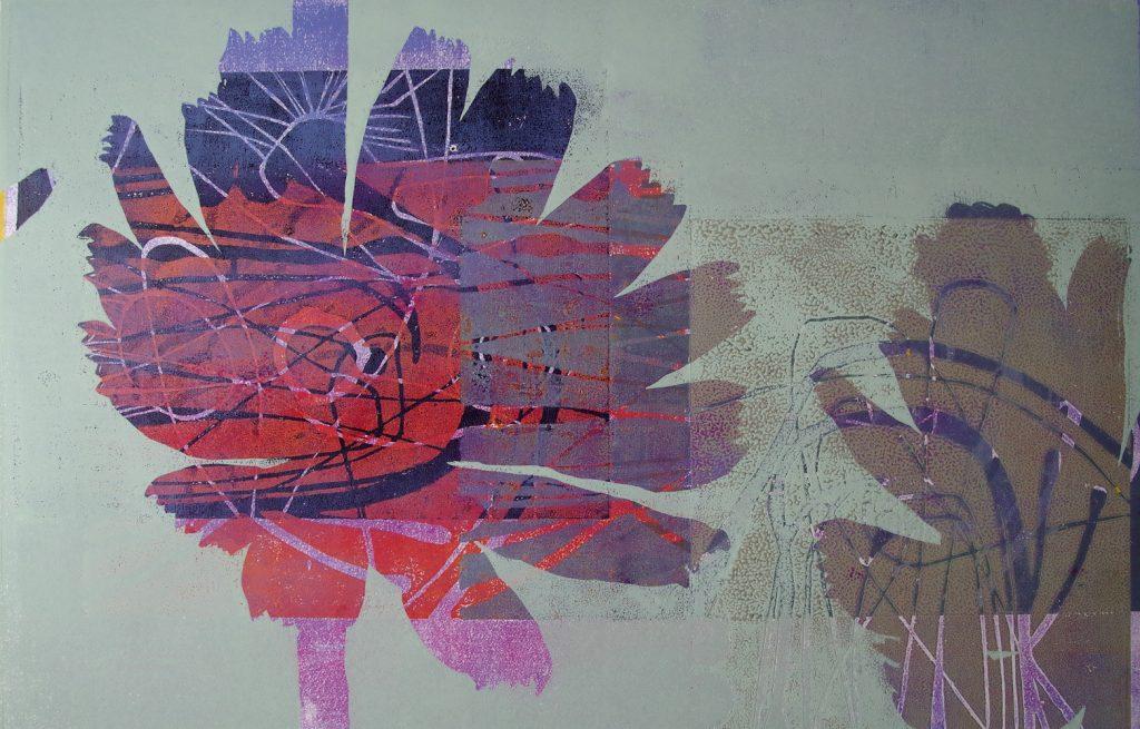 "Helen Fellner, ""die am Weg Wartende"", Holzschnitt im Handabdruck (Unikat), 50 x 78 cm, 700 €"