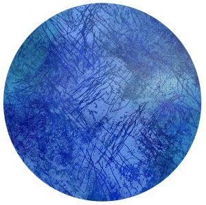 "Giorgio, ""profondita"", mehrfarbiger Holzschnitt (Unikat), Durchmesser 133 cm, 3800 €"