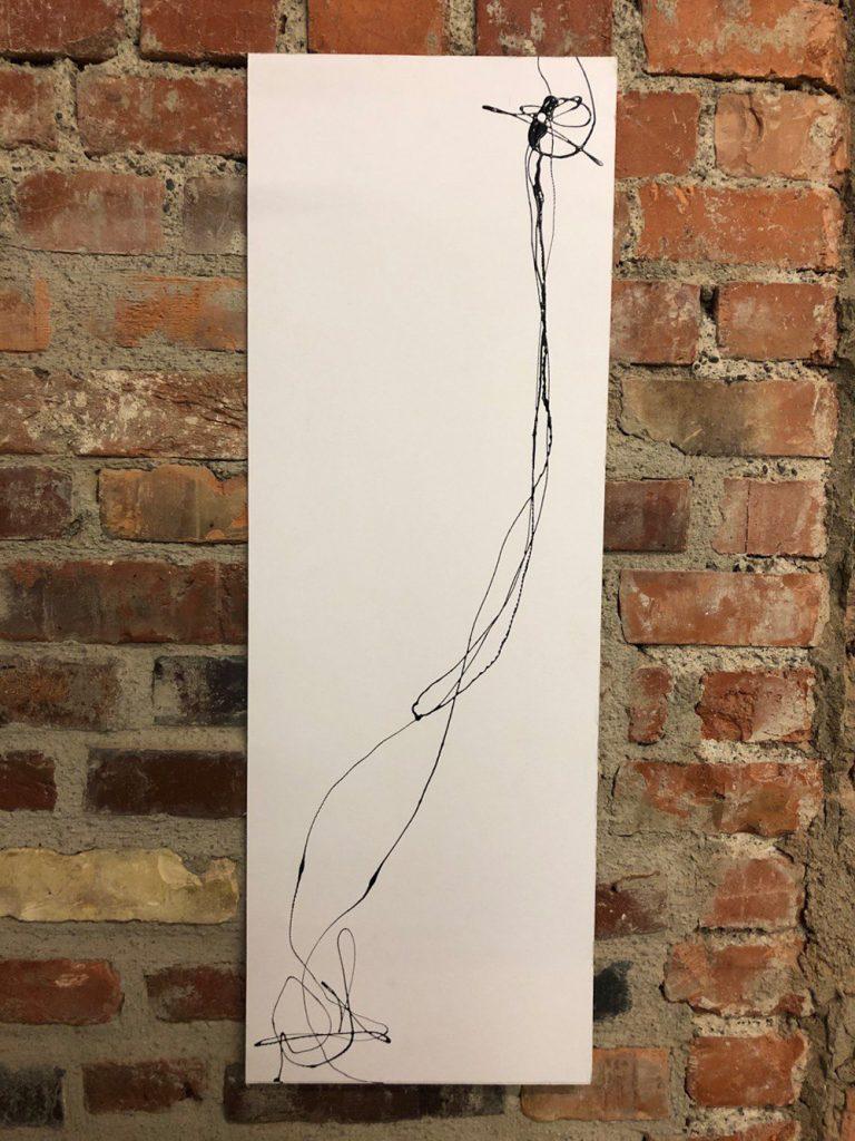 """Susanne Krämer, """"Im Fluss"""", Lack auf Karton, 84 x 30 cm, 200 €"""