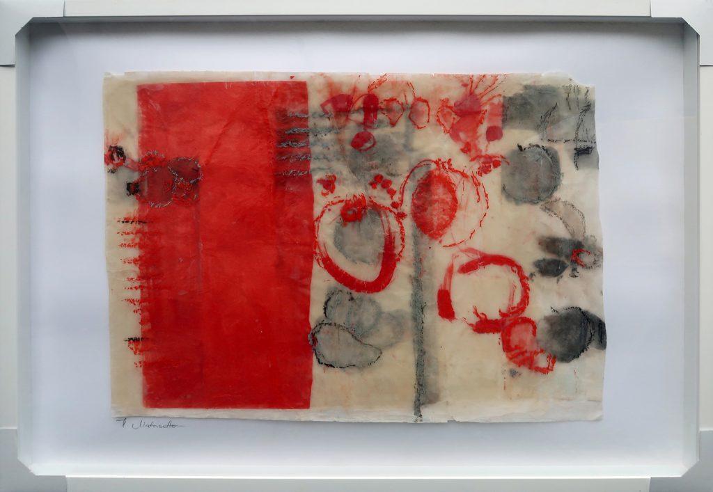 """Helga Matrisotto-Handvest, """"Kandierte Früchte"""", Experimentelle Malerei mit Wachs, 100 x 70 cm, 990 €"""