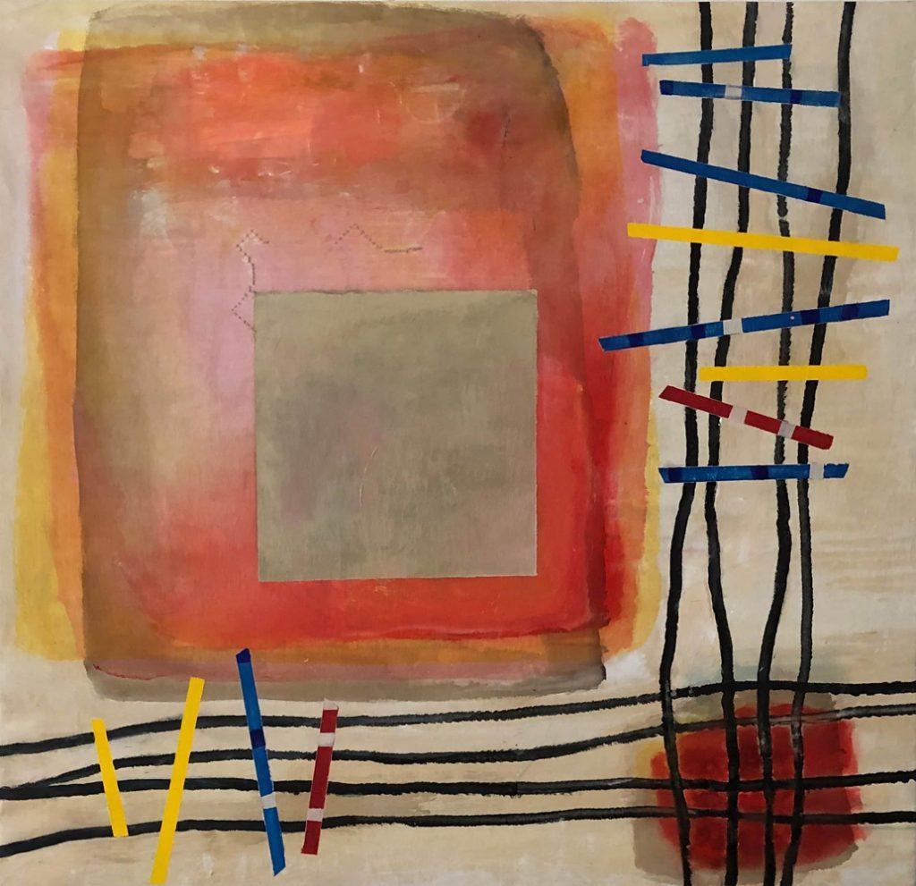 "Hans Nadler, ""MIKADO"", Acryl auf Leinwand, 120 x 125 cm, 2400 €"
