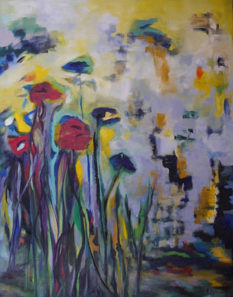 "Heidi Netzer, ""Lebenselixier 20/VII"", Öl auf Leinwand, 100 x 80 cm, 1800 €"