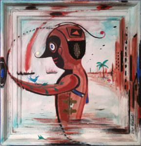"""Uwe Neuhaus, """"Zwiegespräch"""", Acryl auf Holz, 75 × 80 cm, 1800 €"""
