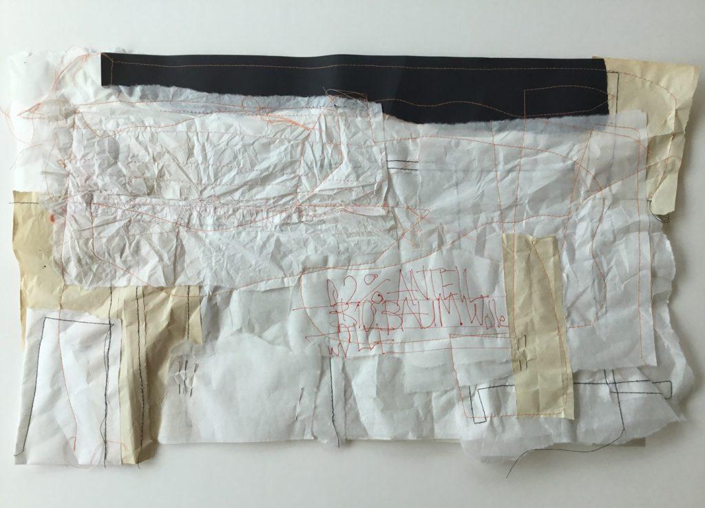 """Lisa Niedermayer, """"0,2 % Anteil Biobaumwolle"""", Papierarbeit, 50 x 70 cm, 600 € bzw. 700 € inkl. Objektrahmen"""