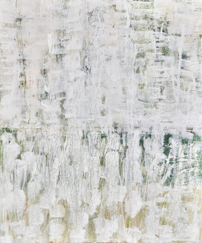 "Isabella Senger, ""Weiße Struktur"", Mixed Media, 50 x 60 cm, 450 €"
