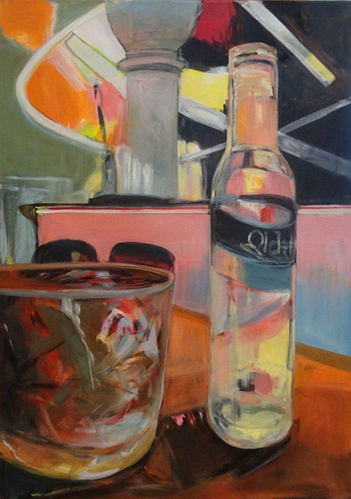 "Carin E. Stoller, ""ohne Titel 2020"" (Kode 4-3), Öl auf Nessel, 105 x 75 cm, 2500 €"
