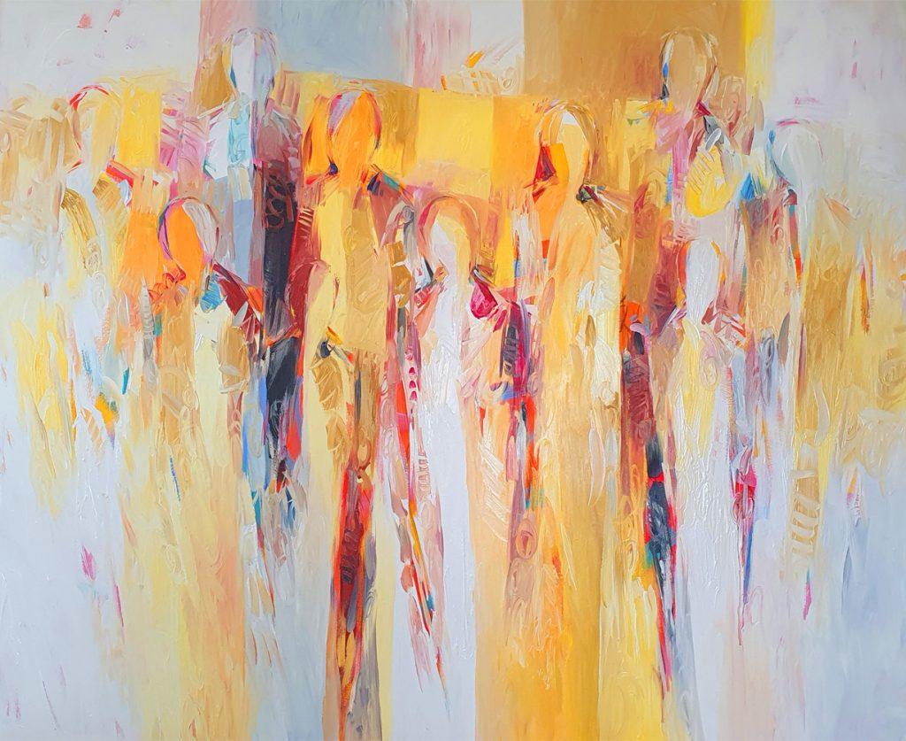 """Karin Haslinger, """"Im Licht"""", Öl auf Leinwand, 100 x 120 cm, 3200 €"""