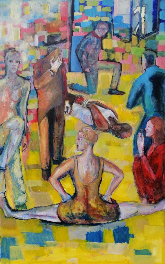 """Monika Javani-Wiedemann, """"2020/2"""", Öl auf Leinwand, 200 x 125 cm, 3200 €"""