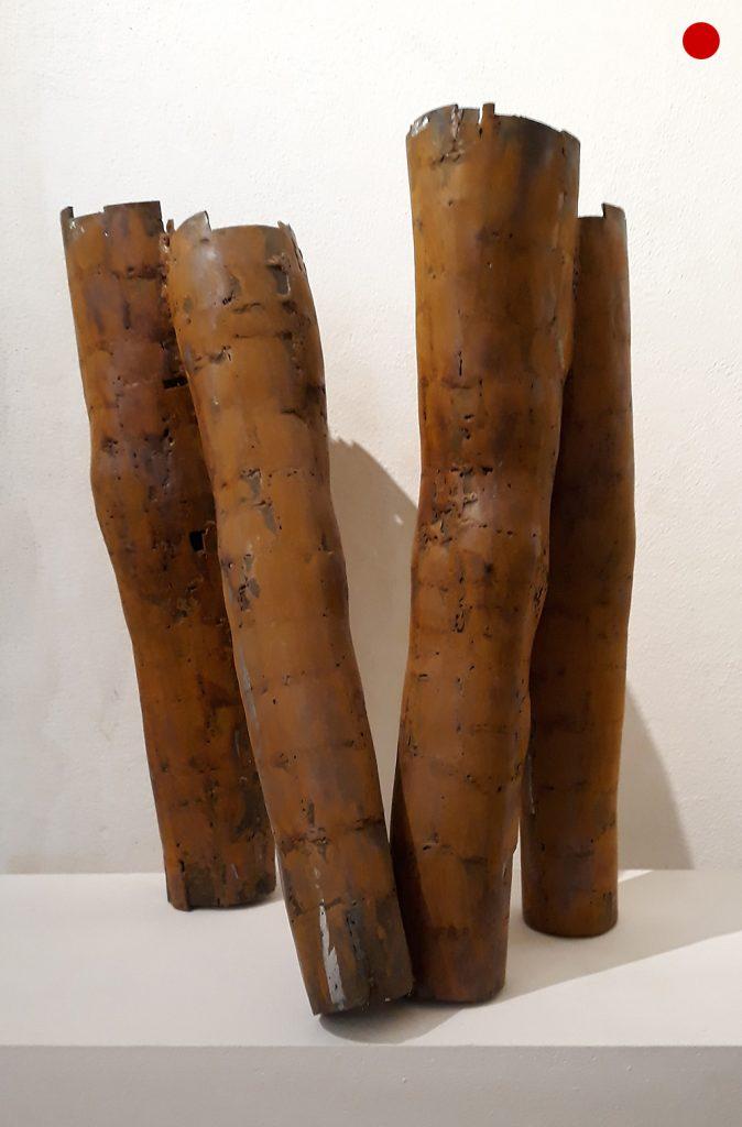 """Matthias Buchenberg, """"Beine"""", Eisen rostig, 58 x 43 x 37 cm, verkauft"""