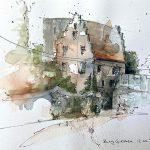 """Jeannette Dubielzig, """"Burg Giessen"""", Urban Nature Sketching"""